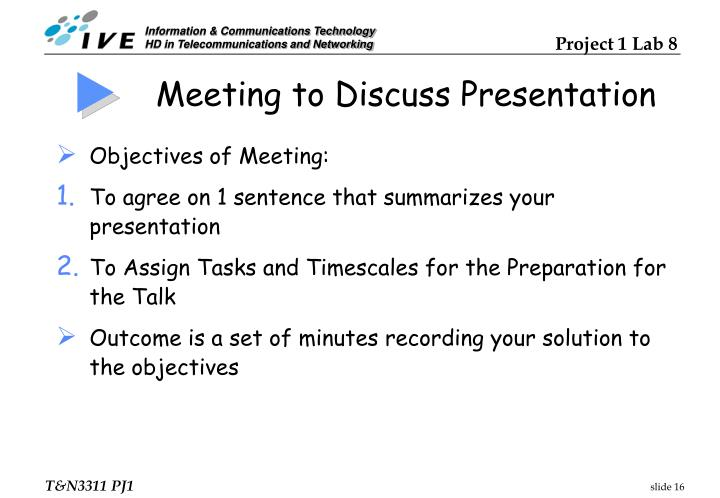 Meeting to Discuss Presentation