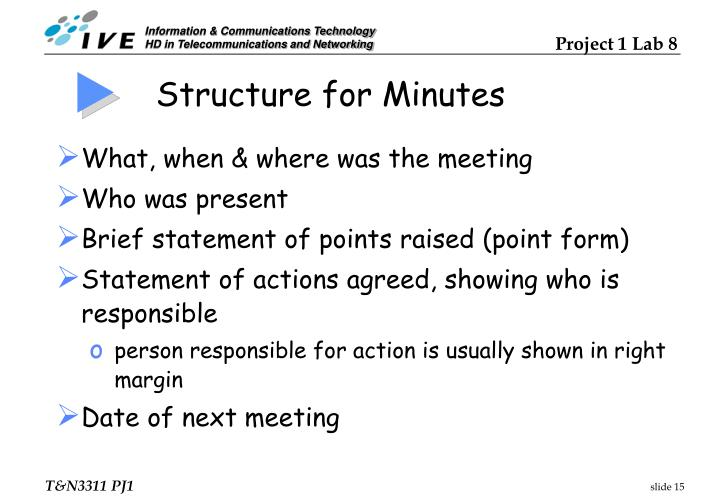 Structure for Minutes