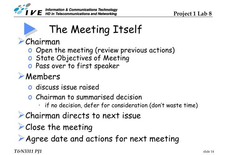 The Meeting Itself