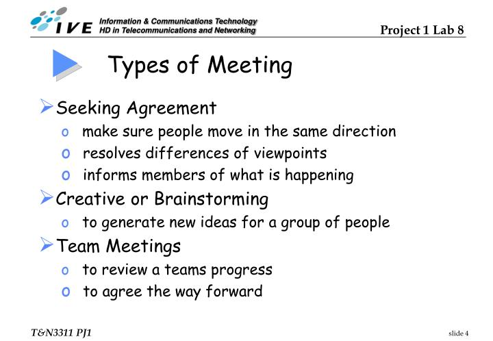 Types of Meeting