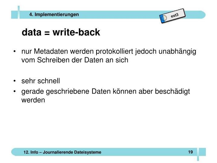 data = write-back