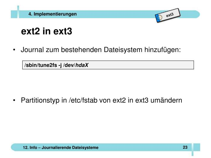 ext2 in ext3