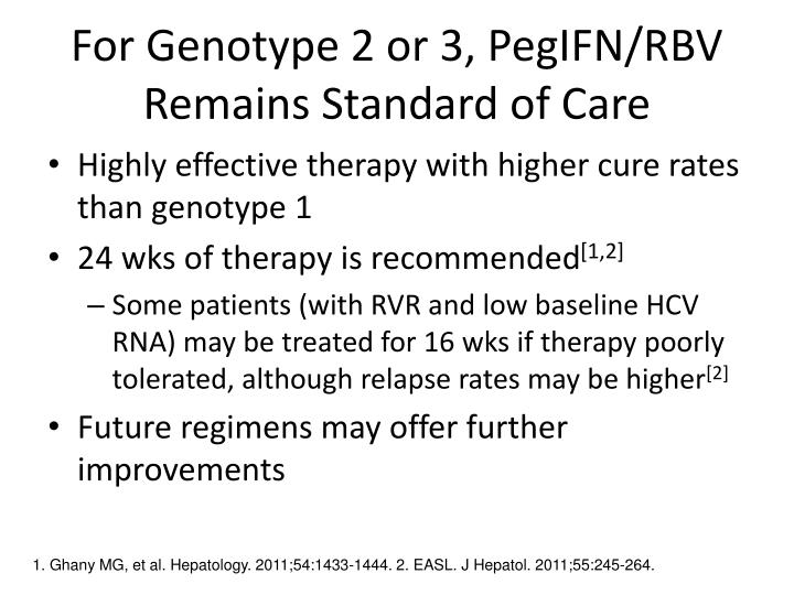 For Genotype 2 or 3, PegIFN/RBV Remains Standard of Care