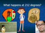 what happens at 212 degrees