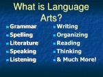 what is language arts
