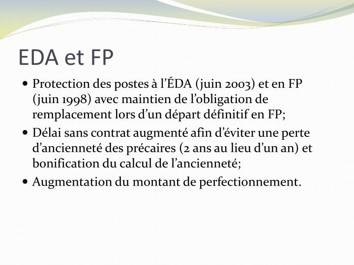 EDA et FP
