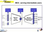 mcs serving intermediate users