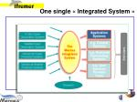 one single integrated system