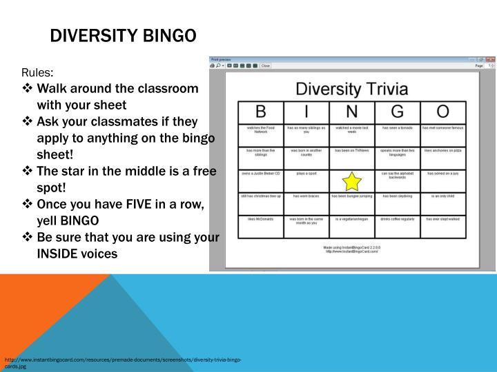 Ppt diversity powerpoint presentation id3559073 diversity bingo maxwellsz