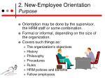 2 new employee orientation purpose