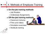4 methods of employee training