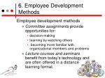 6 employee development methods