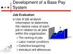 development of a base pay system1