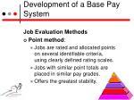 development of a base pay system4