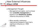how external influences affect hrm3