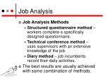 job analysis2