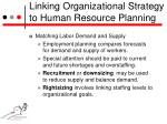 linking organizational strategy to human resource planning6