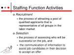 staffing function activities1