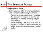 the selection process5
