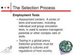 the selection process6