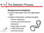 the selection process7
