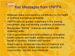 key messages from unfpa