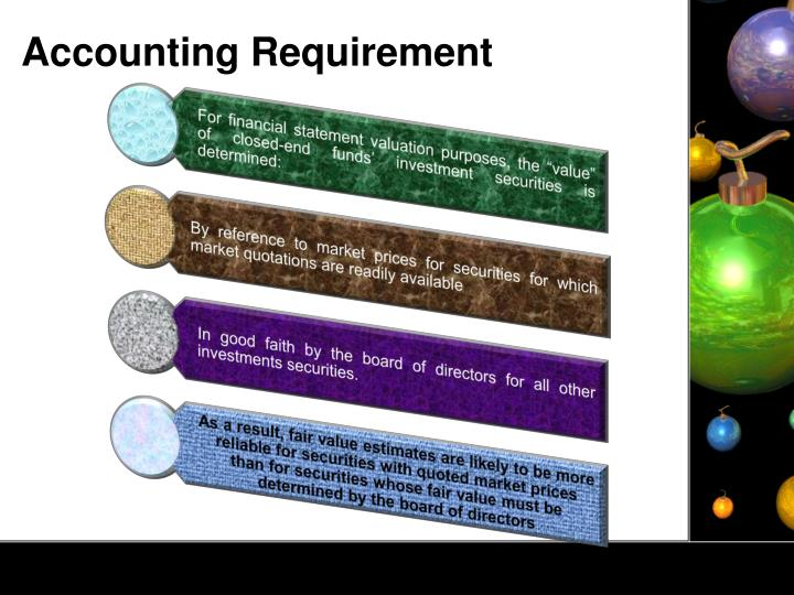 Accounting Requirement
