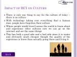 impact of hci on culture