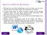 impact of hci on economy1