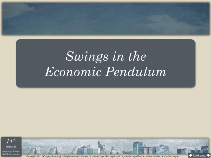 Swings in the economic pendulum