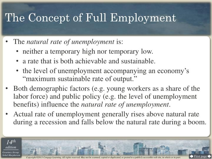The Concept of Full Employment