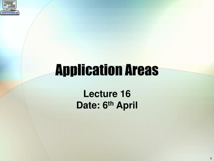 application areas n.