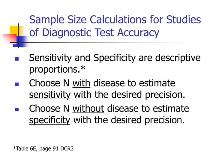 Ppt observational study designs and studies of medical tests.