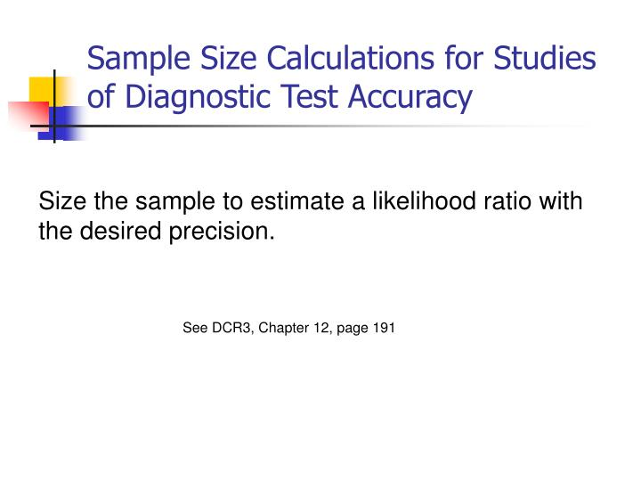 Pdf) sample size calculations for studies designed to evaluate.