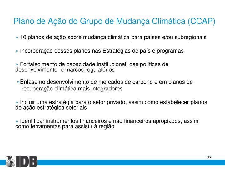 Plano de Ação do Grupo de Mudança Climática (CCAP)