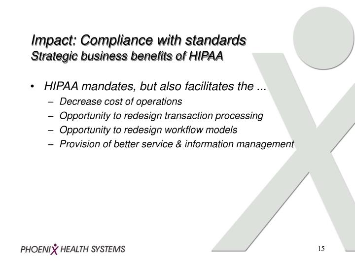 assessment of the organizations compliance with hipaa The hipaa security rule states that an organization must conduct an accurate and thorough assessment of the potential risks and vulnerabilities to the confidentiality, integrity and availability of ephi held by the.
