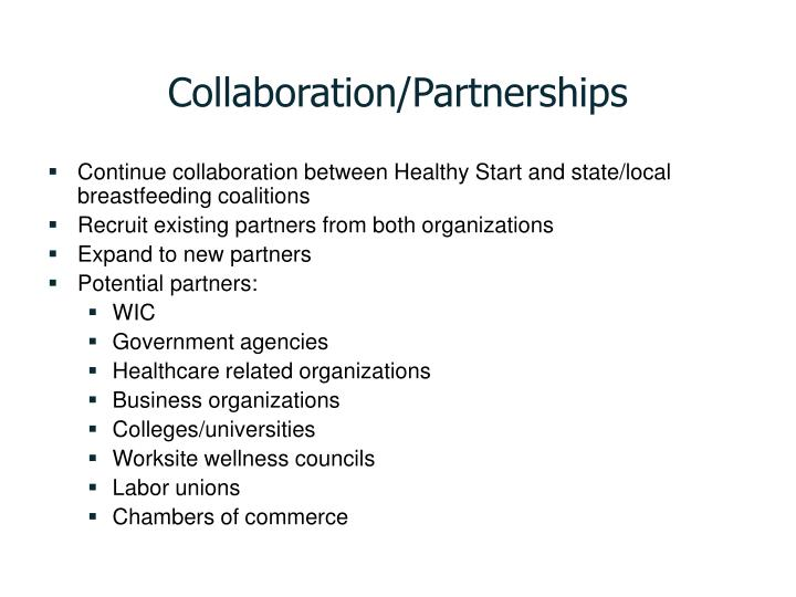 Collaboration/Partnerships