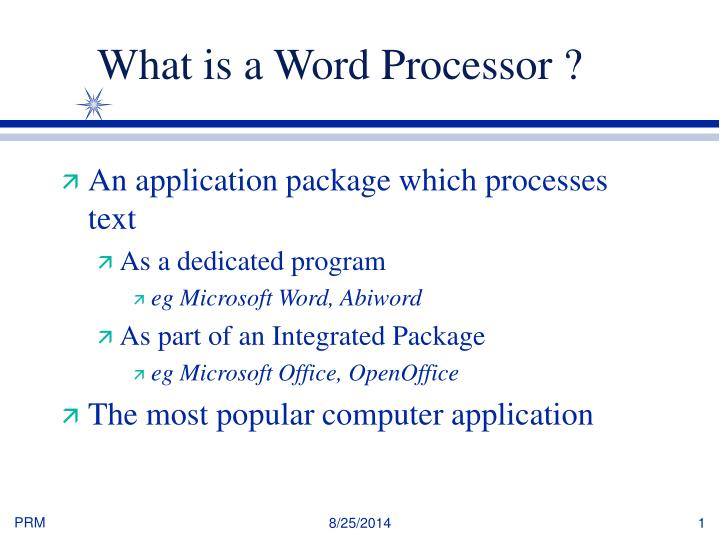 PPT - What is a Word Processor ? PowerPoint Presentation