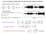 fluctuations friction in the translational motion