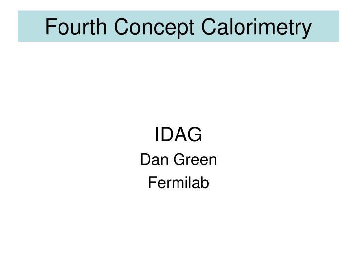 fourth concept calorimetry n.