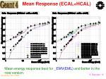 mean response ecal hcal