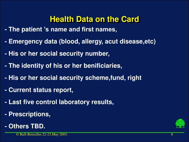 Health Data on the