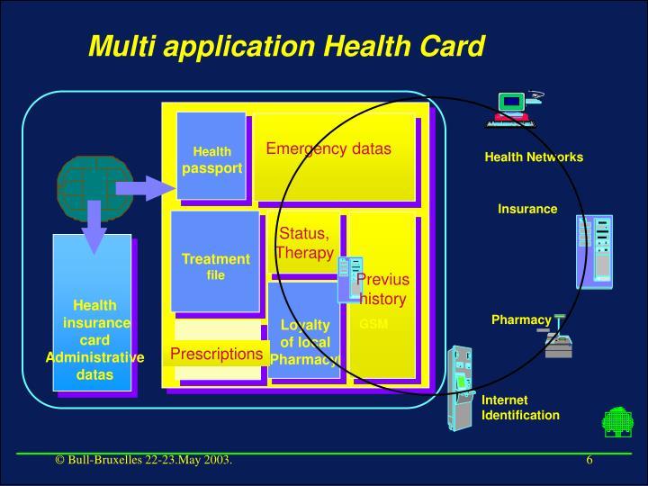 Multi application Health Card