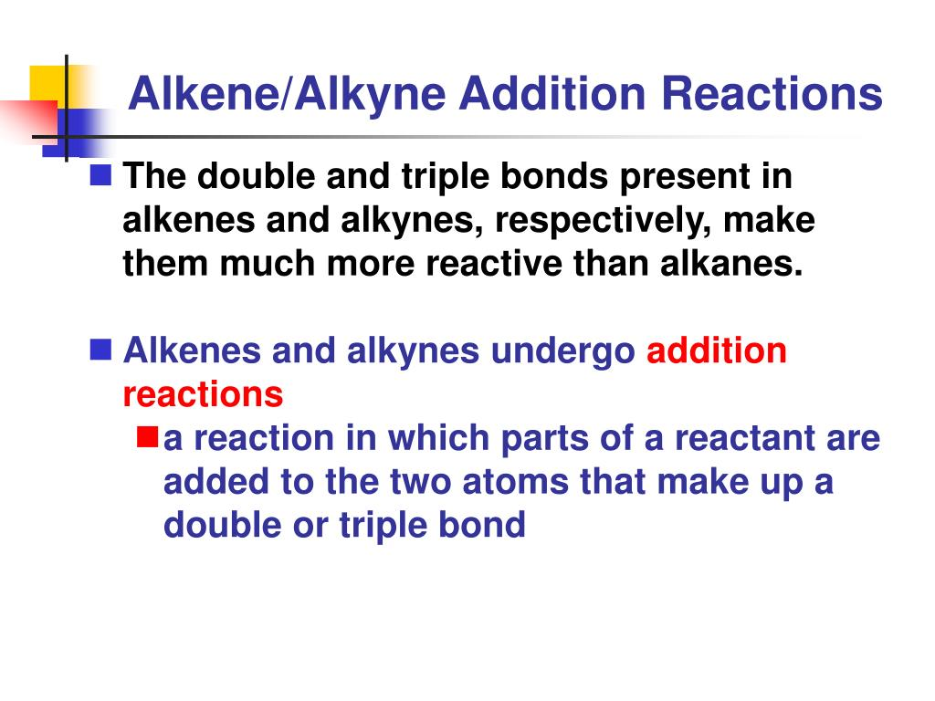 ppt alkene alkyne addition reactions powerpoint presentation id