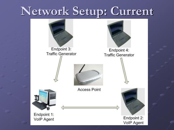 Network Setup: Current