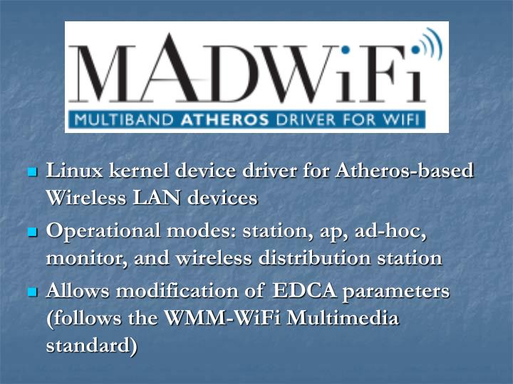 Linux kernel device driver for Atheros-based Wireless LAN devices