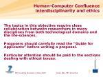 human computer confluence interdisciplinarity and ethics