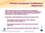 human computer confluence objectives
