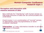 human computer confluence research topic 1