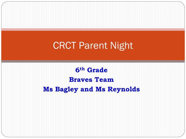 crct parent night n.